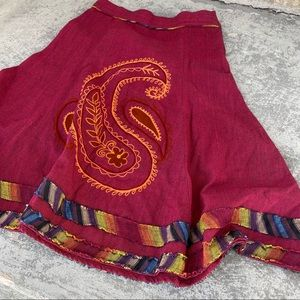 Artisan Boho Cotton Swing Skirt